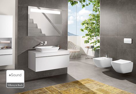 The More To See 14 mirrors will display your bathroom in the right light. It can be combined with all of the Villeroy & Boch bathroom collections and turns ...