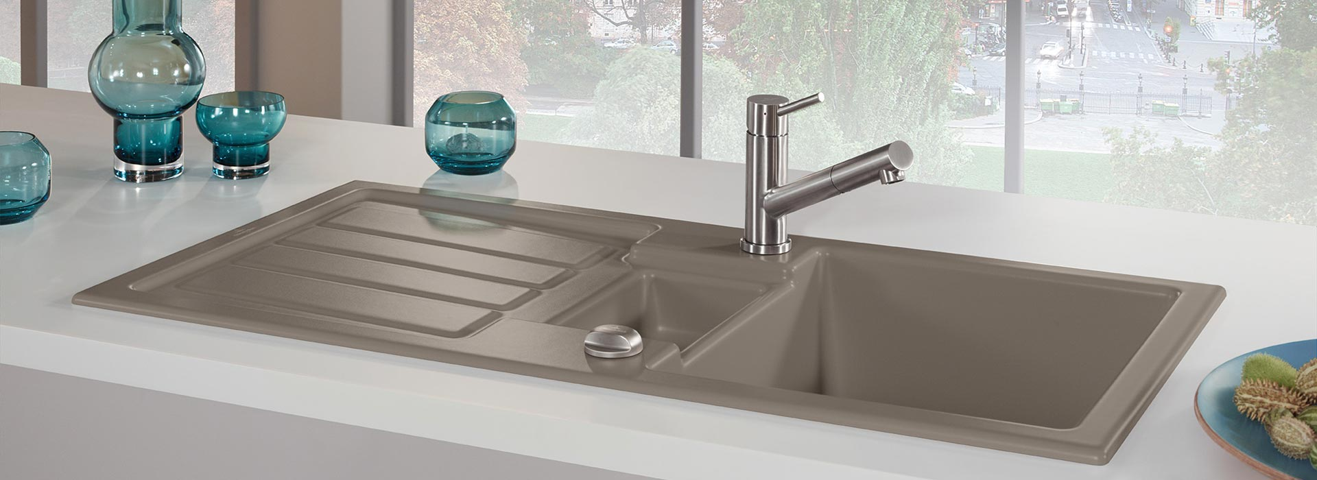 Built in sink in outstanding quality from villeroy boch built in sink flavia 60 workwithnaturefo