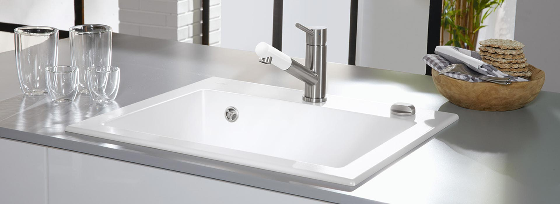 High-quality ceramic sink from Villeroy & Boch