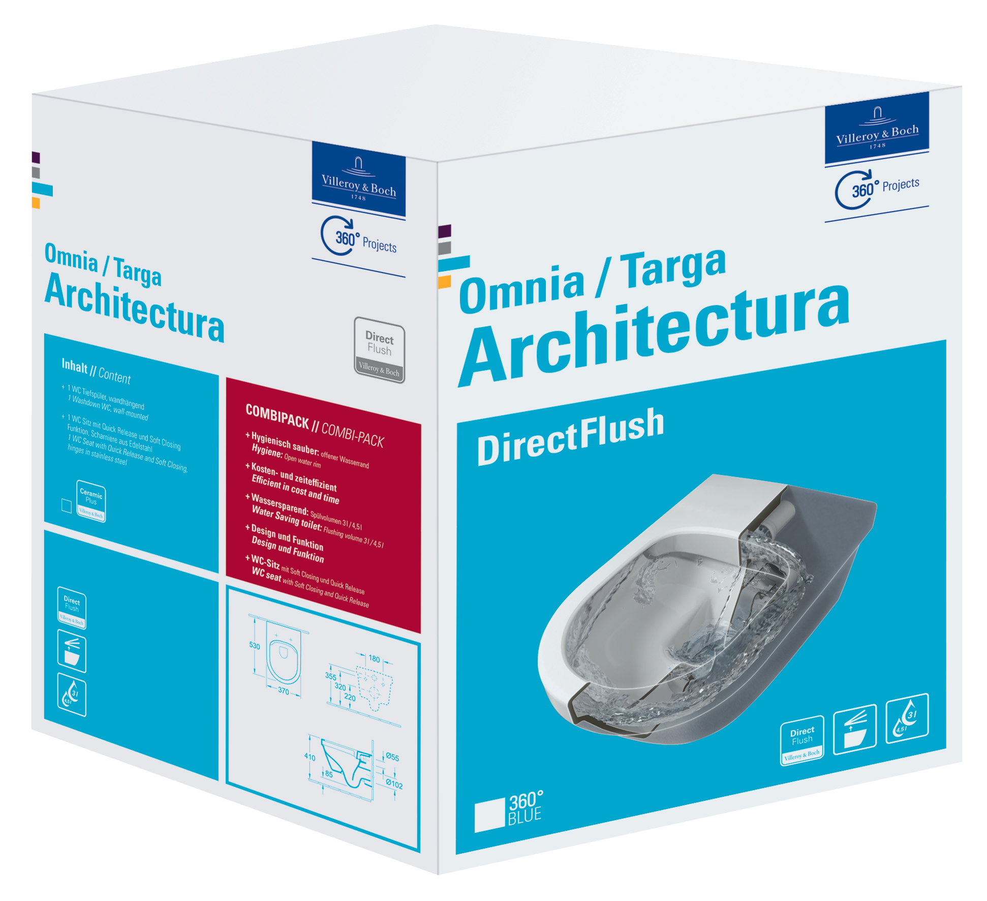 Gut Architectura WC Complete 5684HR - Villeroy & Boch SU21