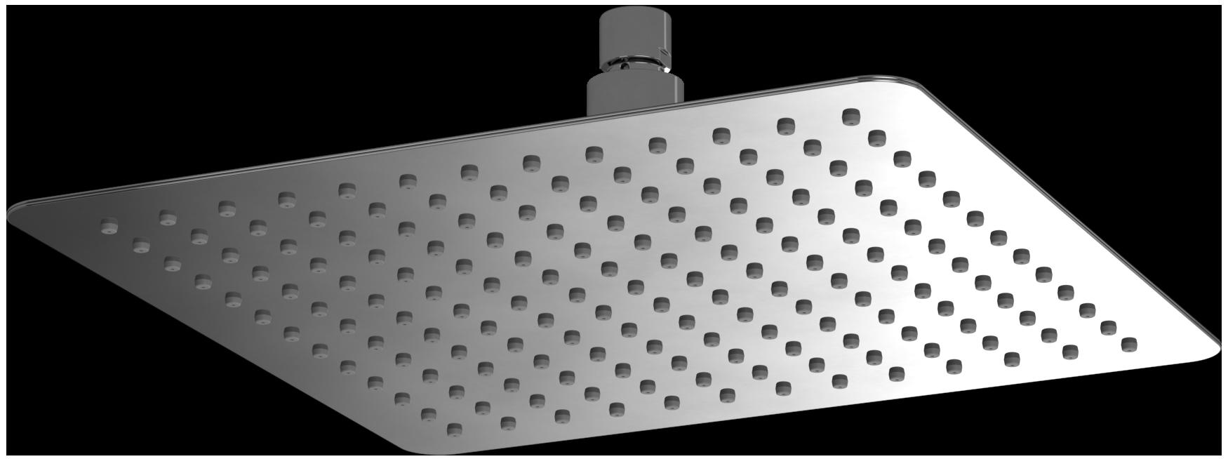 Universal Bath & Shower Accessories Head shower, square, 300 mm x ...