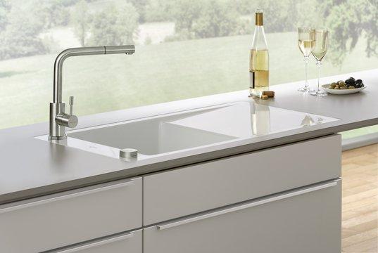 steel shower low pressure kitchen tap